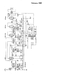 Cirquit Diagram Telefunken 545