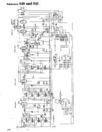 Schaltplan Telefunken 645
