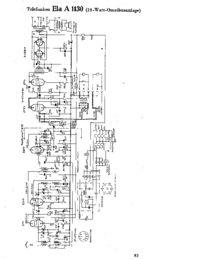 Cirquit Diagram Telefunken Ela A 1130