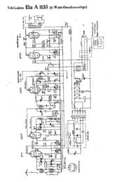 Схема Cirquit Telefunken Ela A 1135