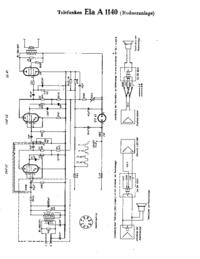 Cirquit diagramu Telefunken Ela A 1140