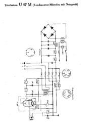 Cirquit Diagram Telefunken U 47 M