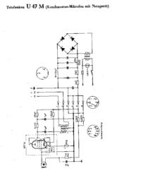 Cirquit diagramu Telefunken U 47 M