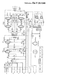 Cirquit Diagram Telefunken Ela V25 1240