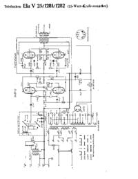 Схема Cirquit Telefunken Ela V25 1281