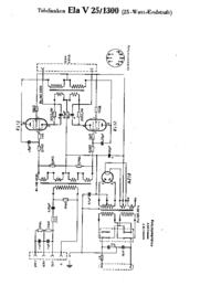 Schema Telefunken Ela V25 1300