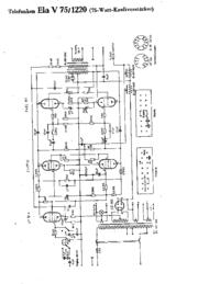 Cirquit Diagram Telefunken Ela V75 1220