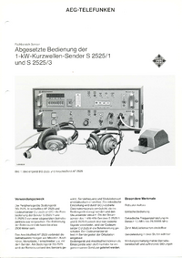Dane techniczne Telefunken S 2525 /1