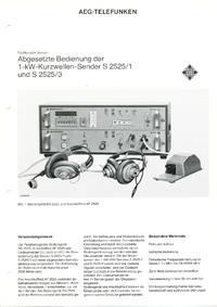 Fiche technique Telefunken S 2525 /3