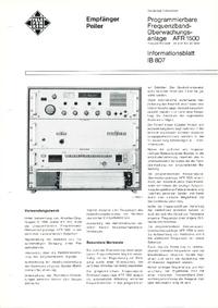folha de dados Telefunken AFR1500