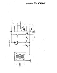 Schéma cirquit Telefunken Ela V101/2