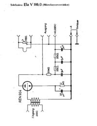 Cirquit Diagramma Telefunken Ela V101/3