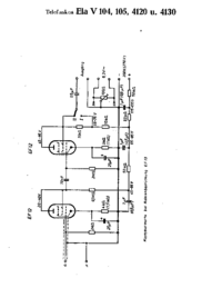 Cirquit Diagram Telefunken Ela V105 (4120, 4130)?
