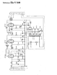 Схема Cirquit Telefunken Ela V1140