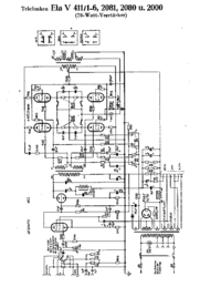 Cirquit Diagram Telefunken Ela V411/2