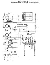 Схема Cirquit Telefunken Ela V202/2