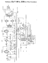 Cirquit Diagram Telefunken Ela V416