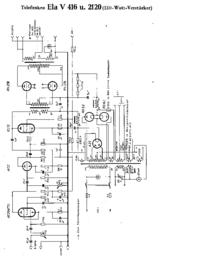 Схема Cirquit Telefunken Ela V416
