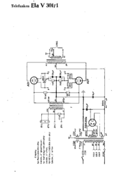 Cirquit Diagram Telefunken Ela V301/1