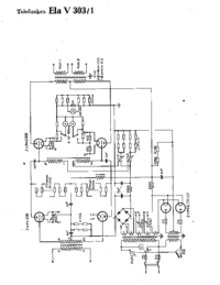 Cirquit Diagram Telefunken Ela V303/1