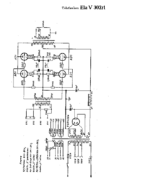 Cirquit Diagram Telefunken Ela V302/1