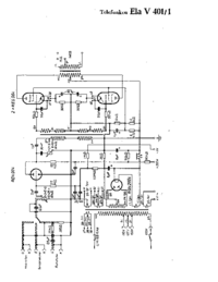 Cirquit Diagram Telefunken Ela V401/1