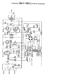 Cirquit Diagram Telefunken Ela V403/2