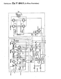 Diagrama cirquit Telefunken Ela V404/3
