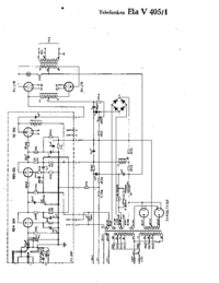Cirquit Diagram Telefunken Ela V405/1