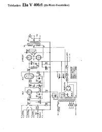Cirquit Diagram Telefunken Ela V406/1
