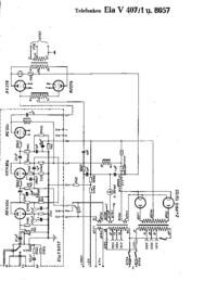 Diagrama cirquit Telefunken Ela V8057