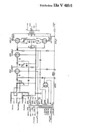 Cirquit diagramu Telefunken Ela V410/1