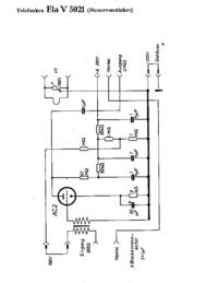 Cirquit Diagram Telefunken Ela V5021