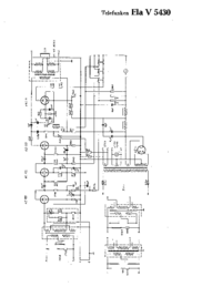 Cirquit Diagramma Telefunken Ela V5430