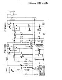 Cirquit Diagram Telefunken 1345 GWK