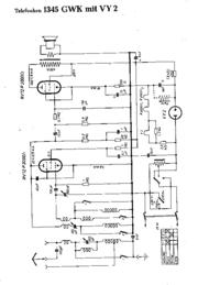 Cirquit Diagramma Telefunken 1345 GWK mit VY2