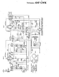 Схема Cirquit Telefunken 4347 GWK
