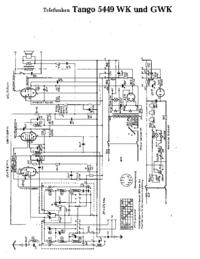 Схема Cirquit Telefunken Tango 5449 GWK