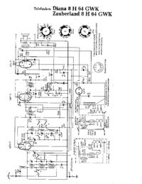 Схема Cirquit Telefunken Zauberland 8 H 64 GWK