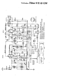 Cirquit Diagram Telefunken Filius 9 H 43 GW