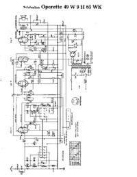 Schaltplan Telefunken Operette 49 W
