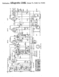 Diagrama cirquit Telefunken Allegretto LMK