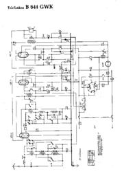 Schema Telefunken B 644 GWK