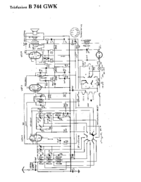 Cirquit Diagram Telefunken B 744 GWK