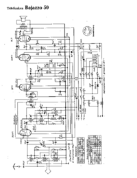 Cirquit Diagram Telefunken Bajazzo 50