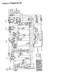 Cirquit Diagrama Telefunken Capriccio 50