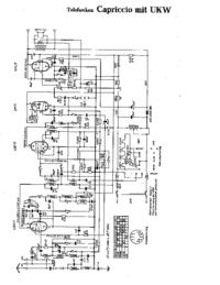Cirquit diagramu Telefunken Capriccio