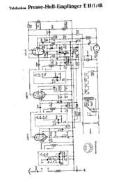 Schéma cirquit Telefunken Presse Hell Empfänger E 11 1 48