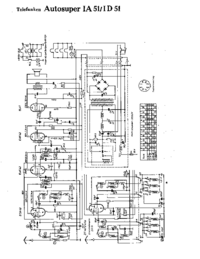 Cirquit Diagrama Telefunken Autosuper IA 51