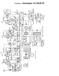 Service Manual, cirquit diagram only Telefunken Autosuper IB 50